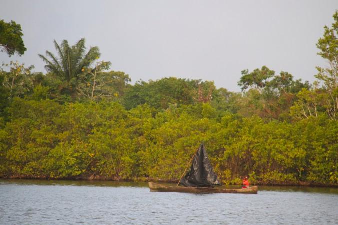Small fishing boat, Pearl Lagoon, Nicaragua