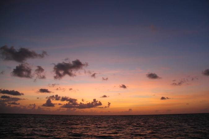 Sunrise on Little Corn Island, Nicaragua