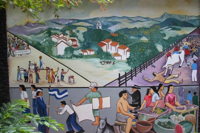 Mural in Juigalpa, Nicaragua