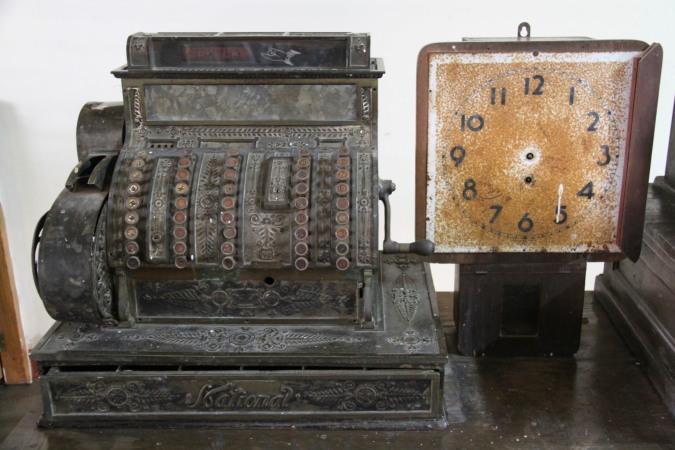 Cash register and clock, Juigalpa Museum, Nicaragua
