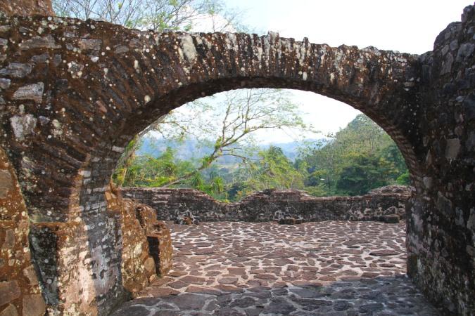 The Spanish fort at El Castillo, Nicaragua