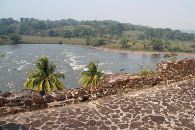 The rapids underneath the Spanish fort at El Castillo, Nicaragua
