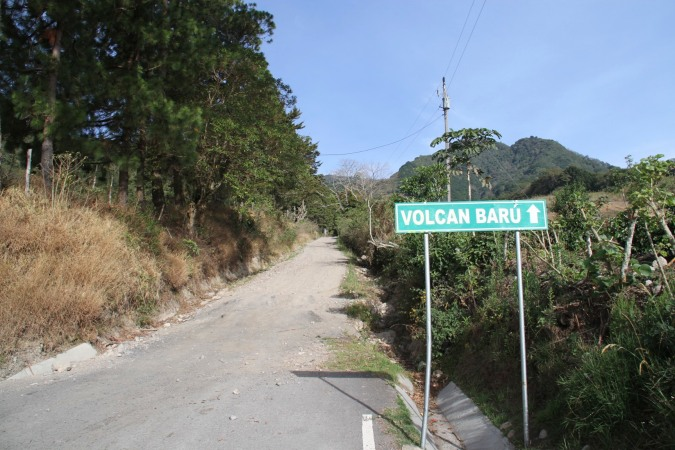 En route to Vulcan Beru, Boquete, Panama