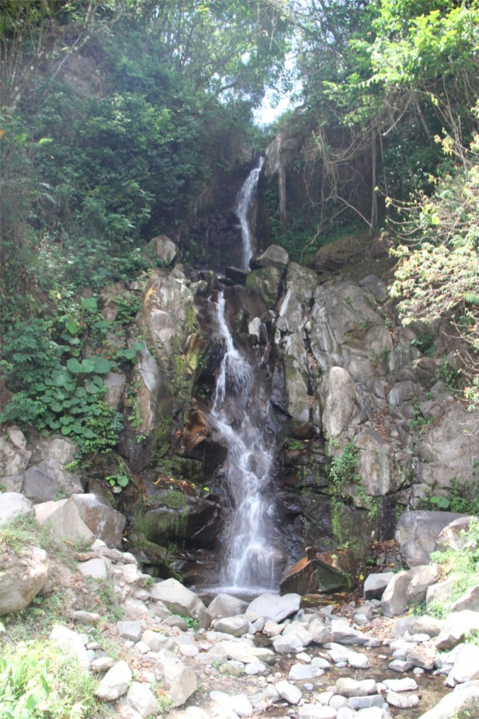 Waterfall in countryside around Boquete, Panama