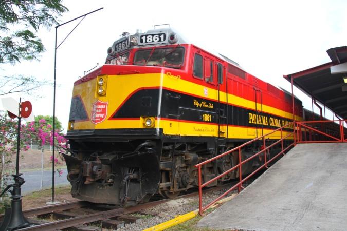 Train, Panama Canal Railway, Panama City, Panama