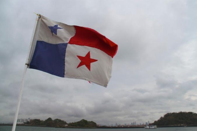 Large cruise ship, Panama Canal, Panama