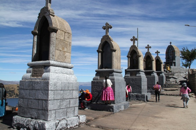 Shrine on the top of Cerro Calvario, Copacabana, Bolivia