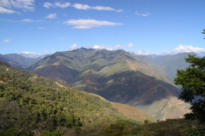 Views of the Yungas and Cordillera Real from Coroico, Bolivia