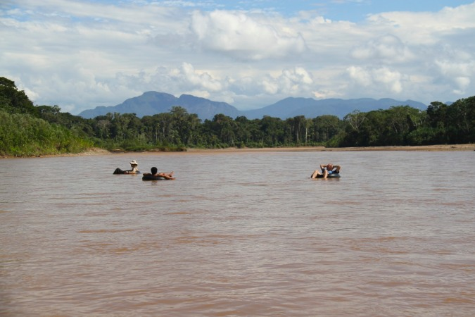 Tubing in the Amazon, Bolivia