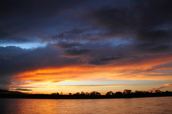 Sunset over the Rio Beni, Rurrenabaque, Bolivia