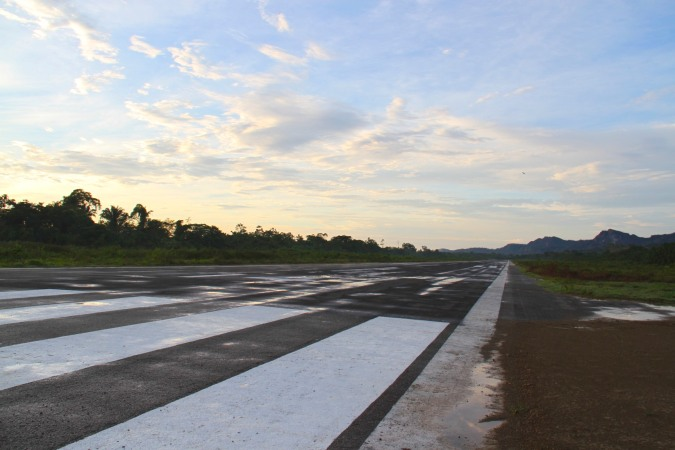The runway at Rurrenabaque airport, Bolivia