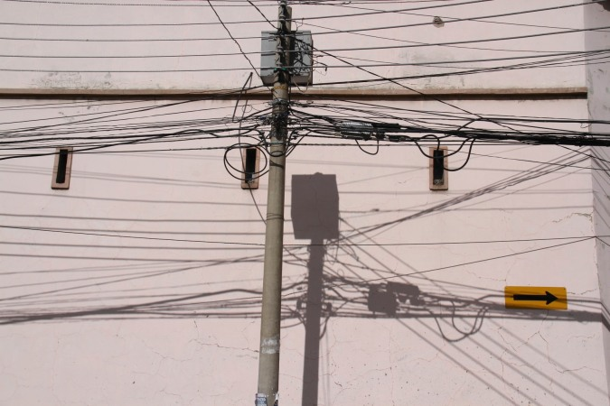 Electrical cables, La Paz, Bolivia