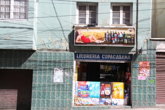 Alcohol and sex sell, La Paz, Bolivia