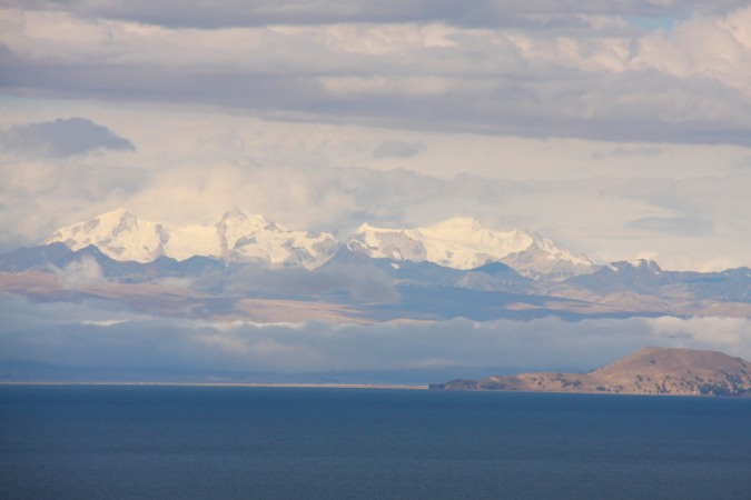 Back in Bolivia. Lake Titicaca and the Cordillera Real, both icons of Bolivia