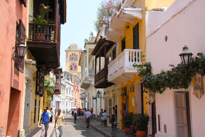 Time to say goodbye to Colombia. The streets of Cartagena, Colombia