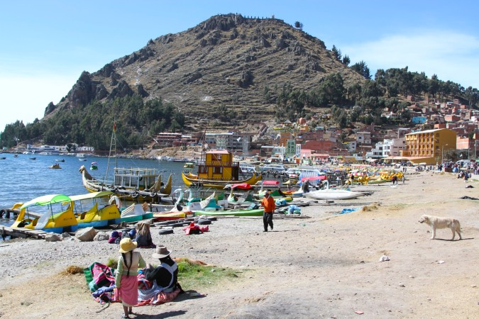 Weekend at the beach, Copacabana, Bolivia
