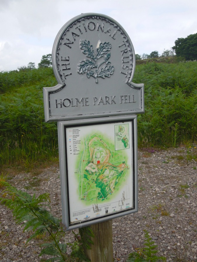 Signpost on Holme Park Fell, Cumbria, England