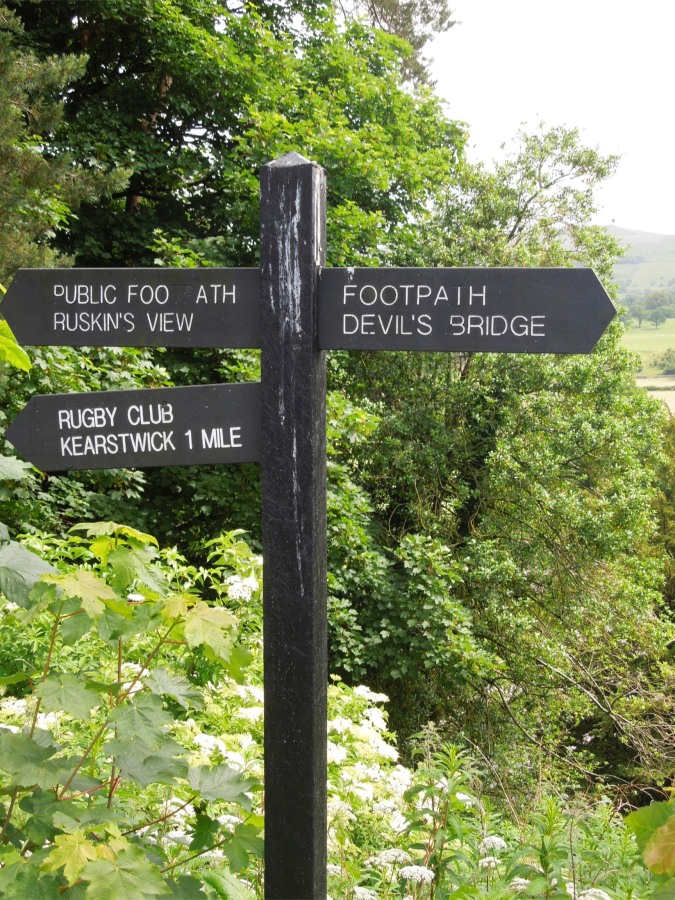 Signpost, Kirkby Lonsdale, Cumbria, England