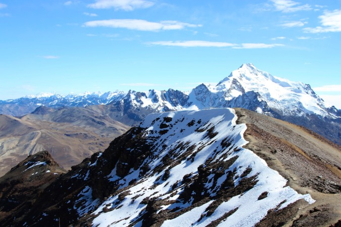The Cordillera Real seen from 5400 metres on Chacaltaya, Bolivia