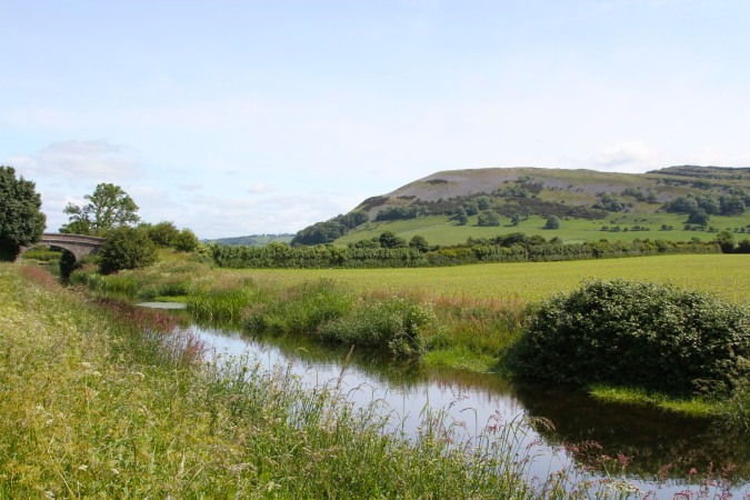 The Lancaster Canal and Farleton Knott, Cumbria, England