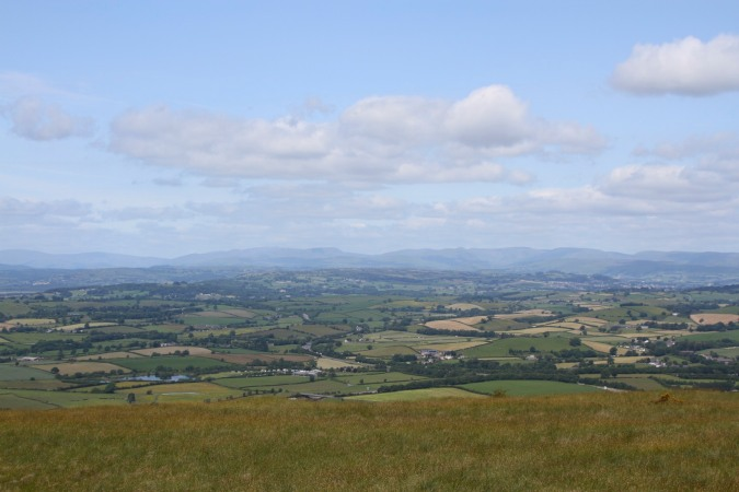 The view over southern Cumbria from Farleton Knott, England