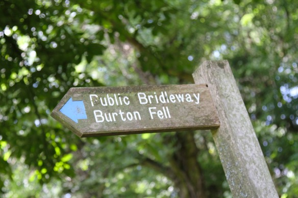 Route to Burton-in-Kendal, Cumbria, England