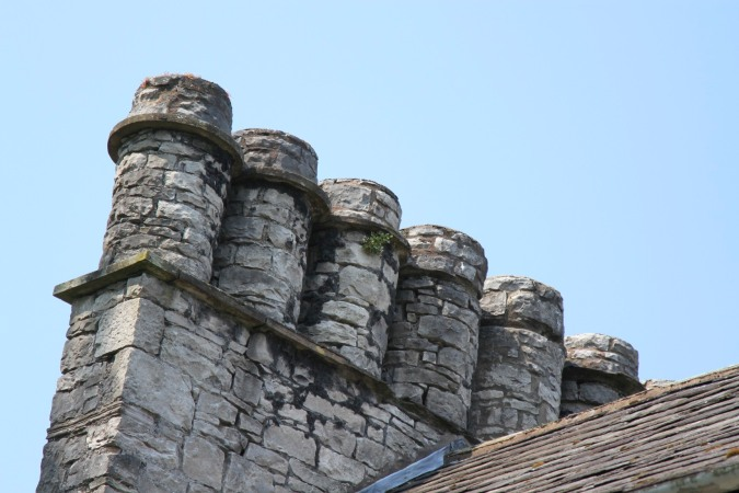 Chimneys in Kendal, Cumbria, England