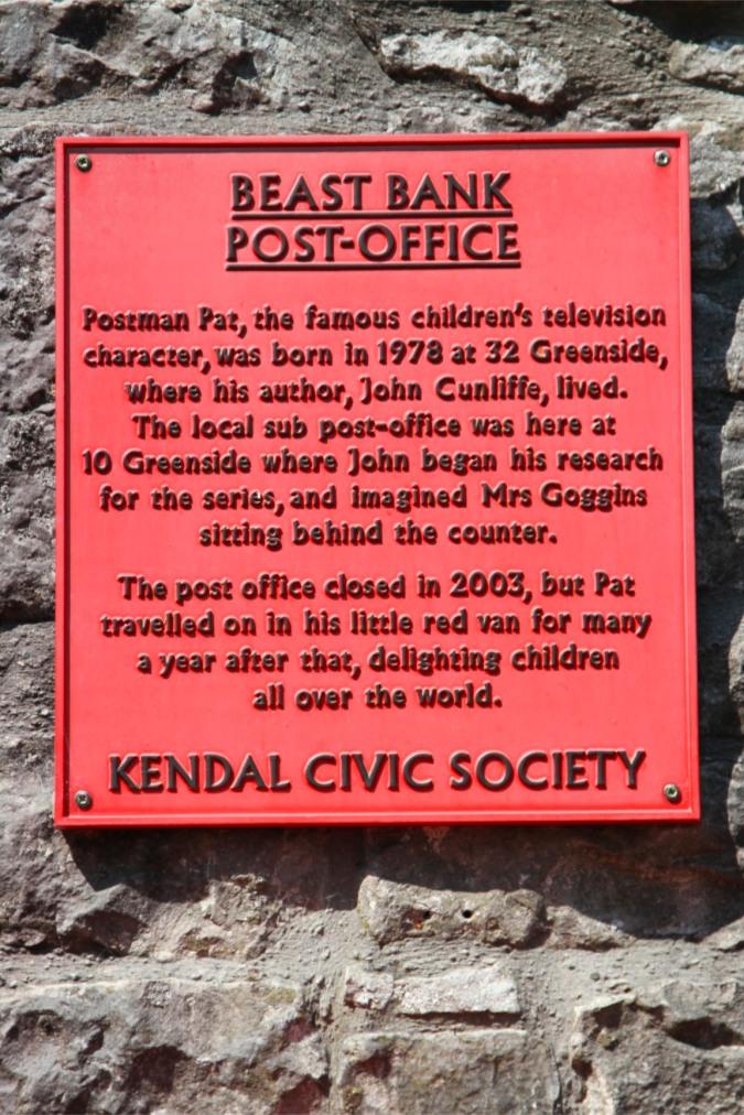 Postman Pat is a Kendalian, Kendal, Cumbria
