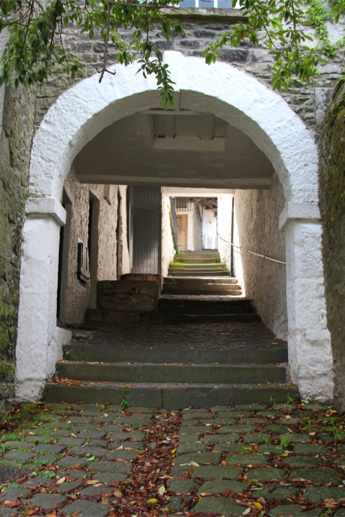 Entrance to Collin Croft, a unique architectural feature in Kendal, Cumbria, England