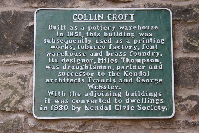 Collin Croft, a unique architectural feature in Kendal, Cumbria, England