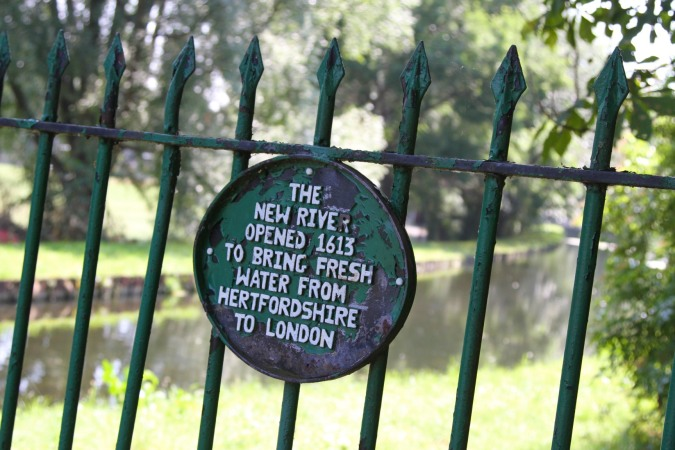 The New River, Finsbury Park, London, England