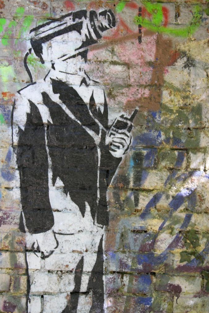 Street art between Finsbury Park and Highgate, London, England