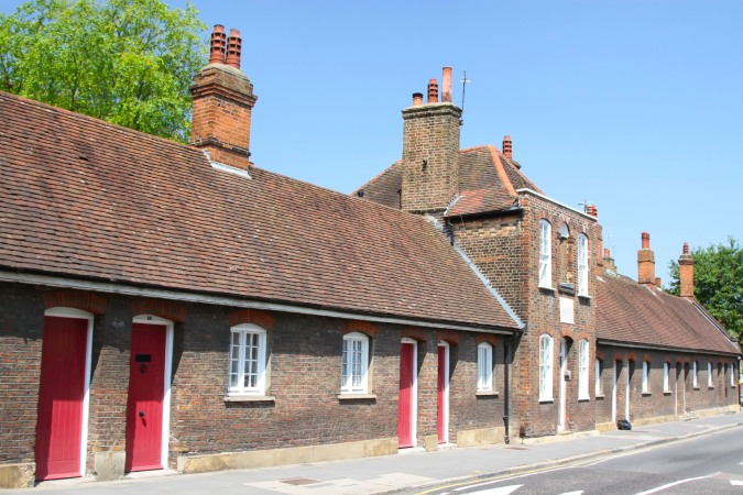 Alms houses in Highgate, London, England