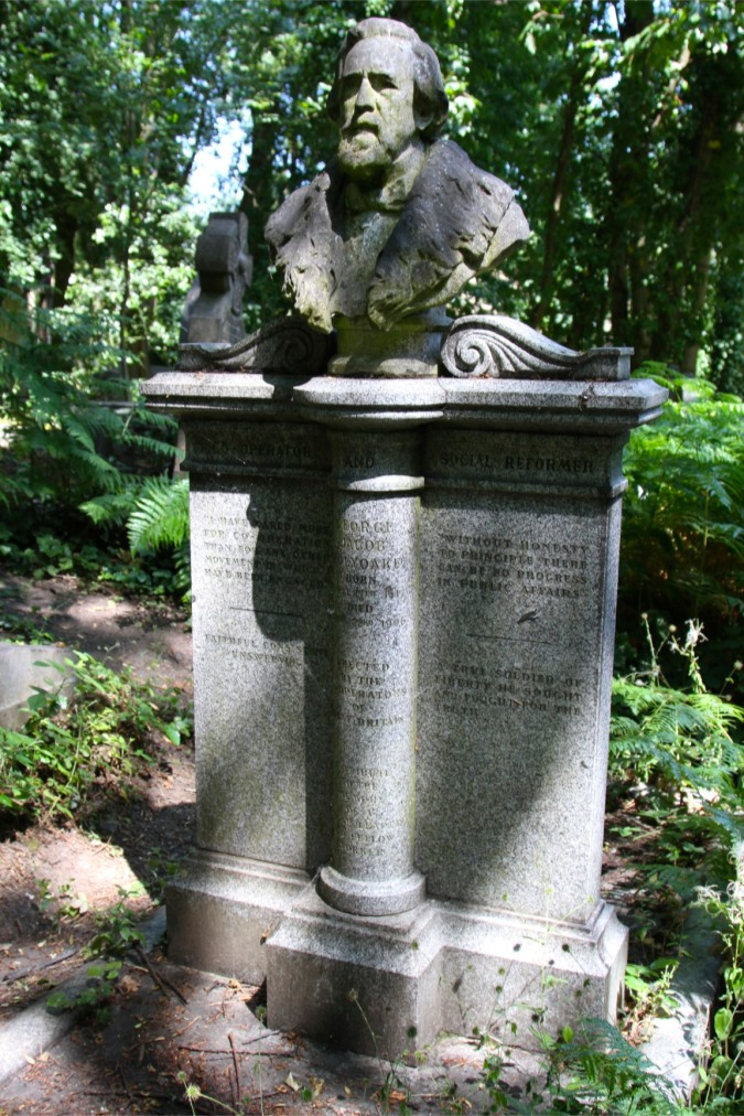 George Holyoake, Highgate Cemetery, London, England