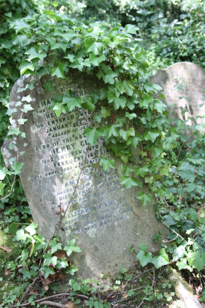 Headstone, Highgate Cemetery, London, England