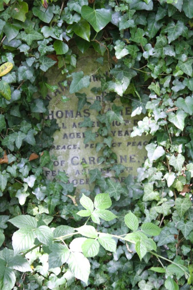 Headstone, Highgate Cemetery, London, England