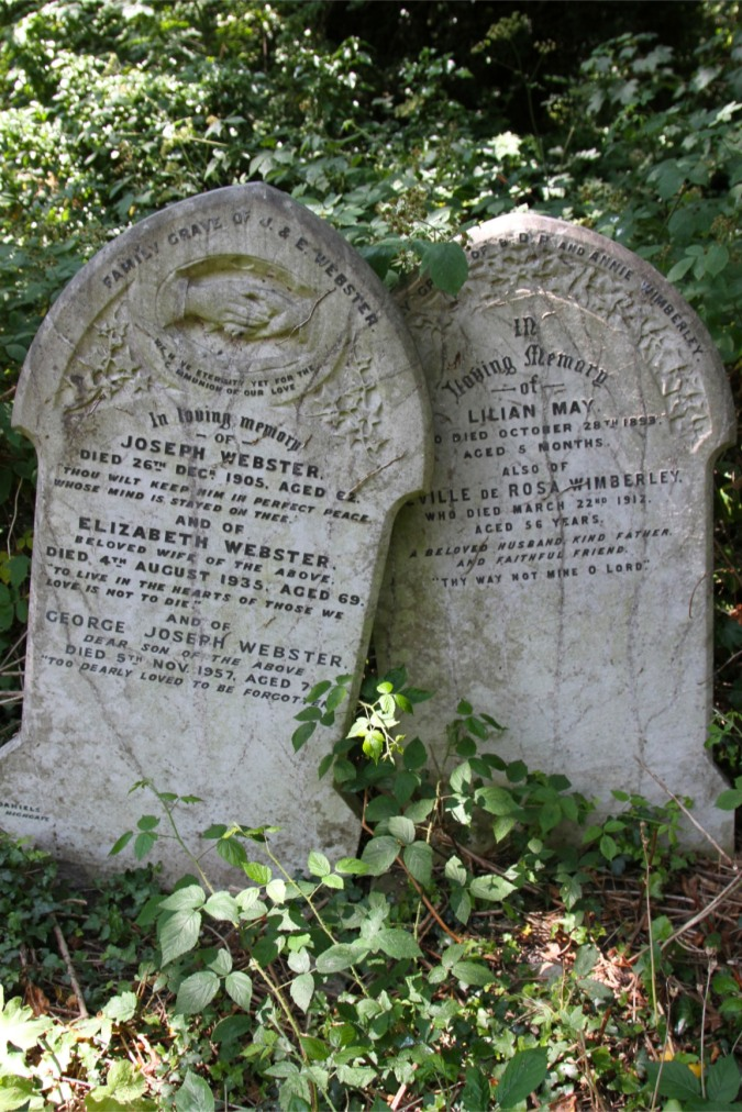 Headstones, Highgate Cemetery, London, England