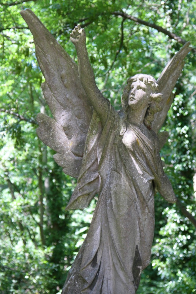 Stone angel, Highgate Cemetery, London, England