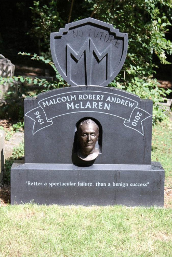 Grave of Malcolm McLaren, Highgate Cemetery, London, England