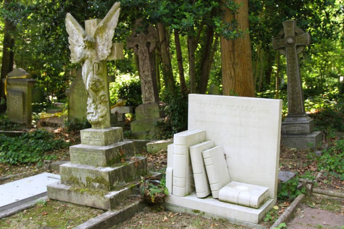 Grave of Jeremy Beadle, Highgate Cemetery, London, England