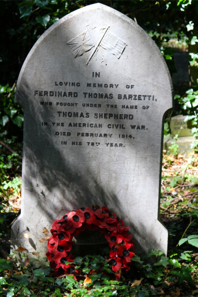 Grave of 'Thomas Shepherd', Highgate Cemetery, London, England