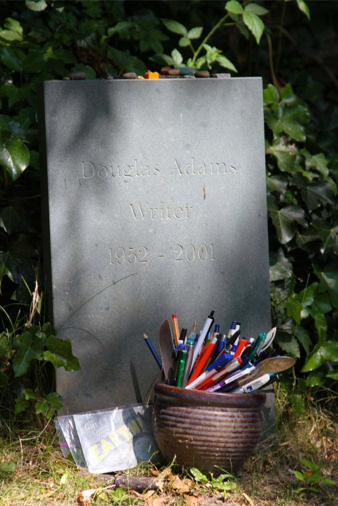 Grave of Douglas Adams, Highgate Cemetery, London, England