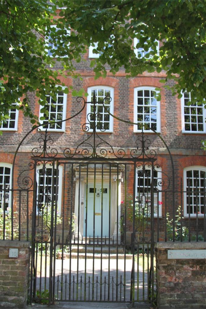 House and gate, Highgate, London, England