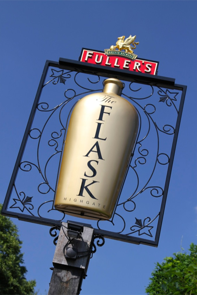 Pub sign, Highgate, London, England