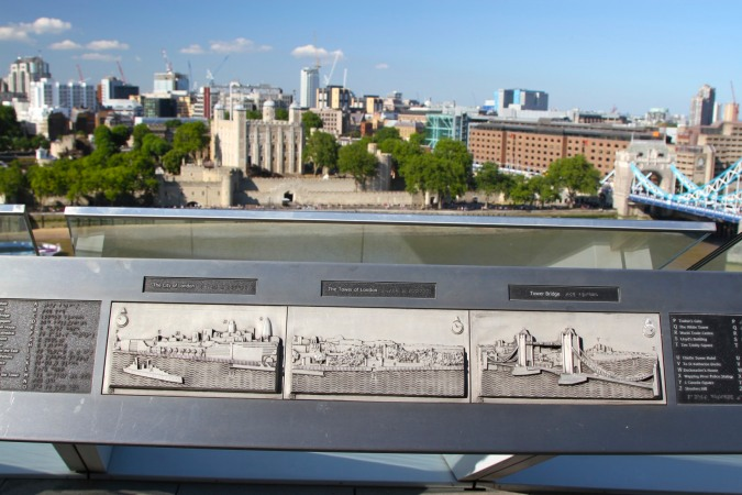 The City of London and Tower of London from City Hall, London, England