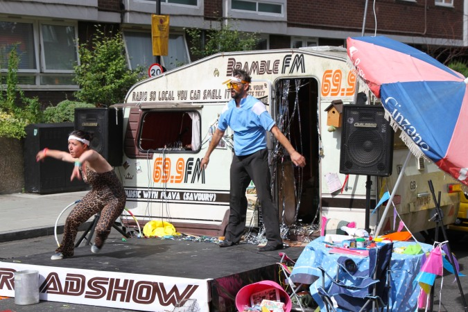 Hip-hop caravan, Whitecross Street Party, London, England