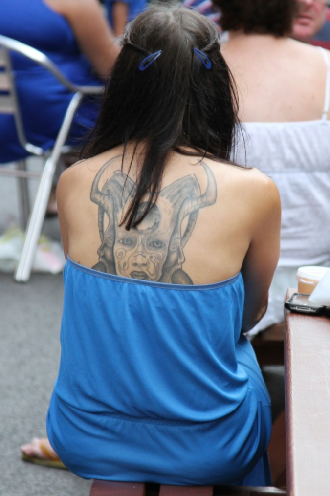 Tattoos, Whitecross Street Party, London, England