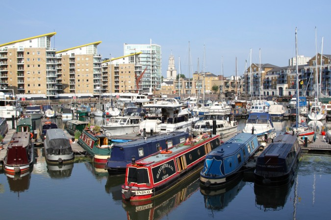 Limehouse Basin, Lee Valley, London, England