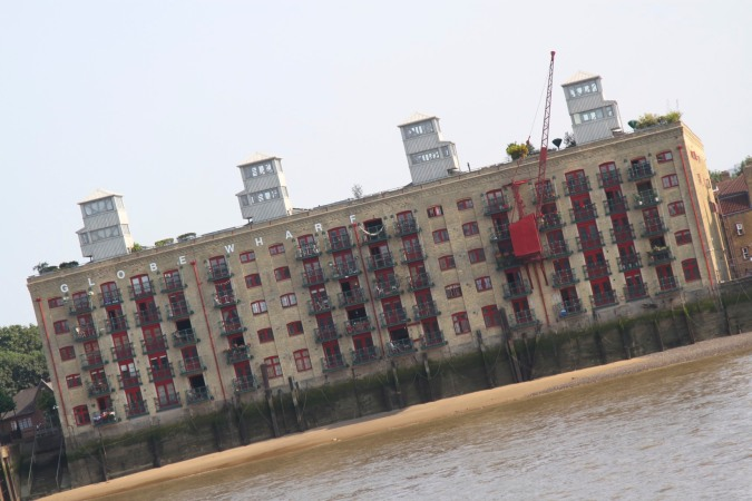Globe Wharf, now luxury apartments, River Thames, London, England