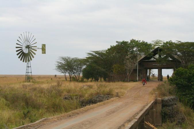 Entrance to the Maasai Mara National Reserve, Kenya, Africa